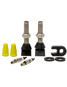 2 DETACHABLE TUBELESS PRESTA VALVES + ADAPTOR