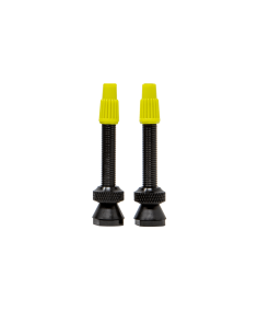 2 REMOVEABLE PRESTA TUBELESS VALVES MADE OF BLACK ANODIZED ALUMINUM + TOOL