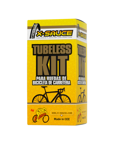 TUBELESS KIT FOR 2 ROAD WHEELS PRESTA...