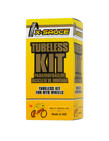 TUBELESS KIT FOR 2 MTB WHEELS PRESTA...